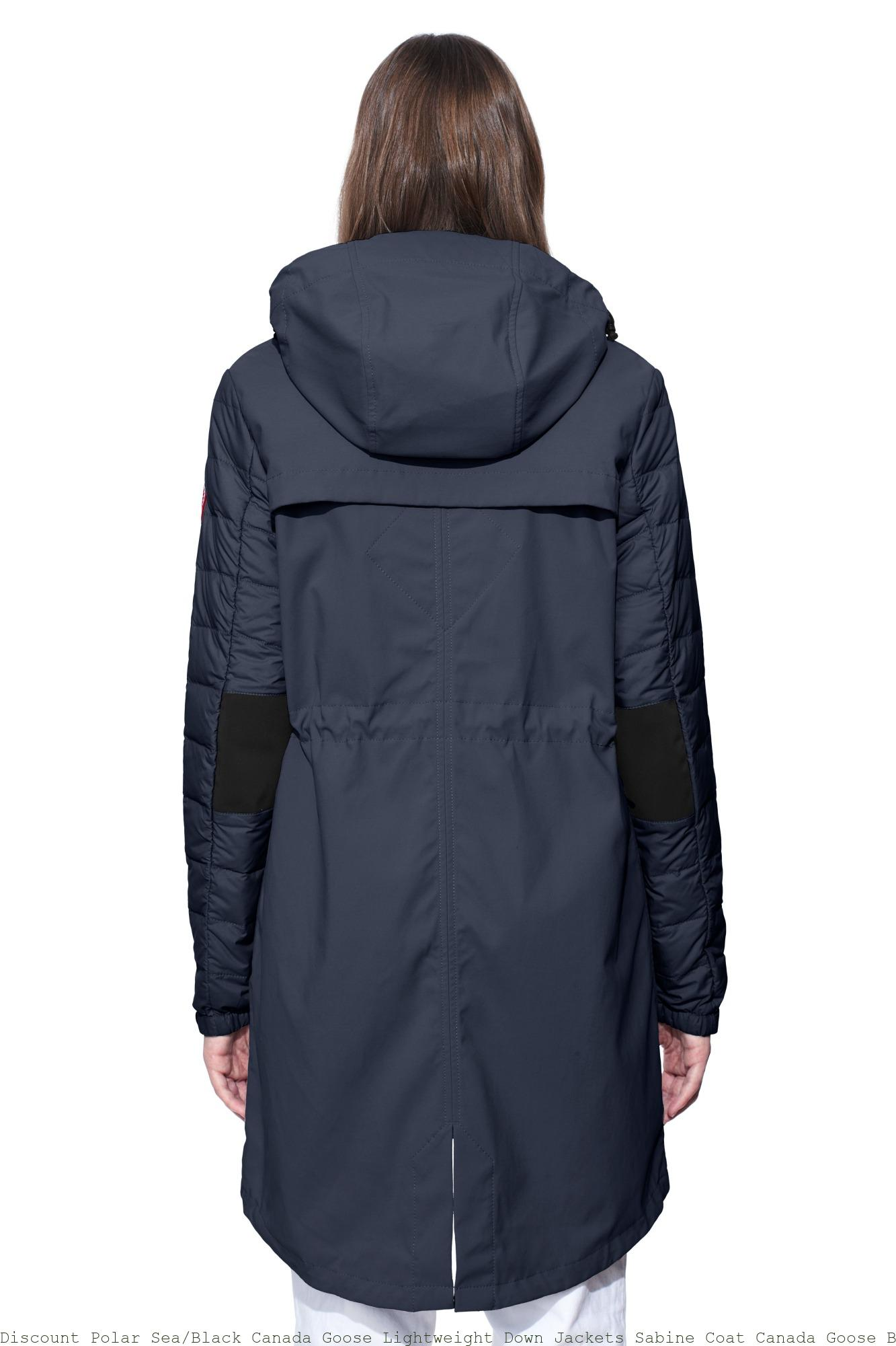 Discount Polar SeaBlack Canada Goose Lightweight Down Jackets Sabine Coat Canada Goose Black Friday Sale 2902LZ