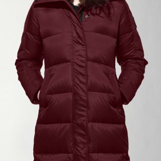 Fr Bordeaux Canada Goose Women Rowley Parka Black Label