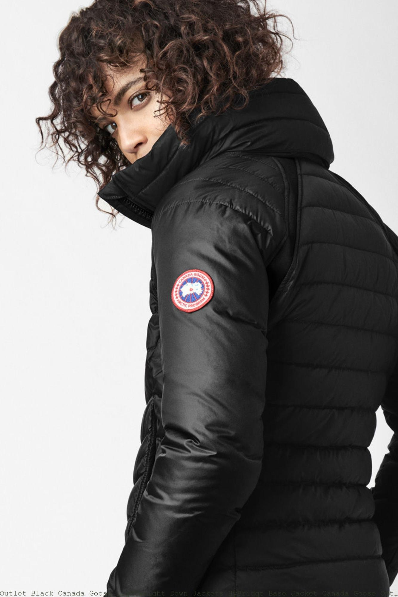 c21af54b0 Outlet Black Canada Goose Lightweight Down Jackets HyBridge Base Jacket  Canada Goose Outlet Store New York 2729L