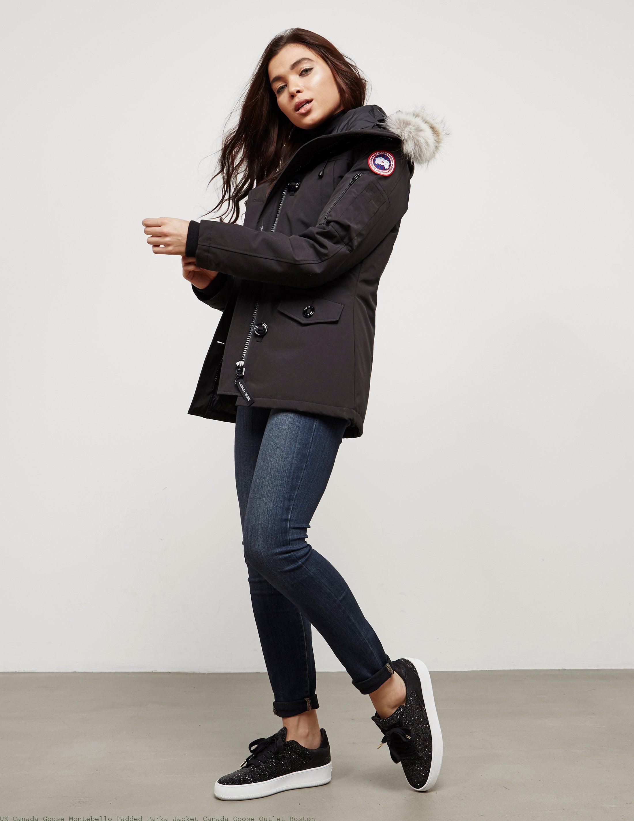 competitive price 8e1d2 9c277 UK Canada Goose Montebello Padded Parka Jacket Canada Goose Outlet Boston